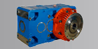 Parallel ROSSI gearboxes with extruder
